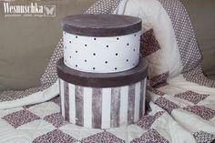 Schachteln   ♥ XXL Hutschachteln | Vintage Look | 2 Er Set ♥   Ein