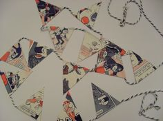 Vintage Dandy Bunting Up Cycled Paper Garland by BigGirlSmallWorld