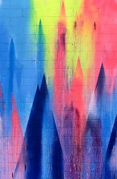 Neon street art. Williamsburg, Brooklyn. Art by Yvette Vexta