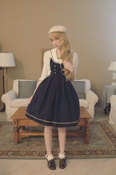 Sailor Lolita. A coord from this past summer with Innocent World, Btssb, and offbrand items.