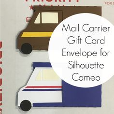 Free, commercial use Silhouette Cameo mail carrier gift card envelope cut file. This easy project is perfect for holiday gifts for your package carriers.