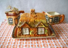 """Cottage Ware"""", by Price Brothers, England. We have the cheese / butter server, """"Ye Olde Fireside"""",a Family piece."""
