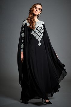 66e3189086 Buy Elegant Kaftan Online | Jywal Black Kaftan, Full Length Gowns, Arabic  Dress,