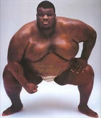 Emanuel & Yarbrough, amateur sumo wrestler and mixed martial arts (MMA) Sumo Wrestler, Civil Rights Leaders, Guinness World, African Diaspora, World Of Sports, Mixed Martial Arts, World Records, Male Physique, African American History