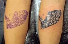 Tatuagem / Tartaruga / PB / Perna / Panturrilha / Tattoo / Turtle / Black and Grey / Leg / Calf #studio900 #crismaia