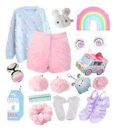 Designer Clothes, Shoes & Bags for Women Pastel Goth Outfits, Pastel Goth Fashion, Pastel Outfit, Kawaii Fashion, Lolita Fashion, Cute Fashion, Girl Fashion, Fashion Styles, Girls Fashion Clothes