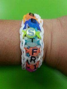Best friends rainbow loom bracelet