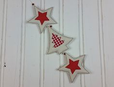 Shabby, Advent Calendar, Flag, Christmas Ornaments, Sewing, Holiday Decor, Etsy, Handmade, Stars