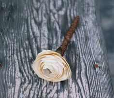 Shabby Style Rustic Wedding Guest Book Pen Roses Ranunculus