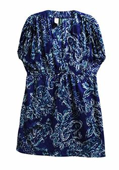 Ralph Lauren Womens PaisleyPrint Dress Cover Up Lagoon XL -- Click the image for detailed beachwear description
