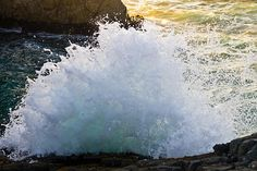 The Wave Fine Art Photography Prints For Sale By Priya Ghose - A large wave unexpectedly breaks, up and over the rocks where I stand, and I snap my camera's shutter in surprise.
