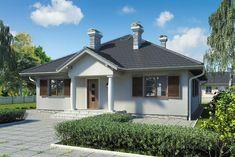 Wizualizacja Mój Dom Lucjan CE Civil Construction, Dom, House Plans, Garage Doors, Shed, Outdoor Structures, How To Plan, Outdoor Decor, Interiors