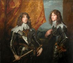 The Palatine Princes, Van Dyck, 1637. Photo: Musée Louvre. Rupert is the soulful looking one on the right, while his elder brother Carl is on the left.