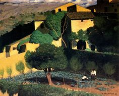 Landscape in Cagnes, 1923 Felix Vallotton