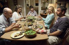 """The Way, Way Back"" movie still, 2013.  L to R: Rob Corddry, Amanda Peet, Liam James, Toni Collette, Steve Carell."