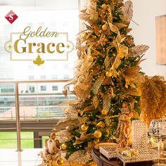 Adquiere la nueva colección: GOLDEN GRACE, destacada por la cálida elegancia que otorga. El color oro es el que predomina en esta colección, es uno de los colores que ha caracterizado la decoración navideña en los últimos años.