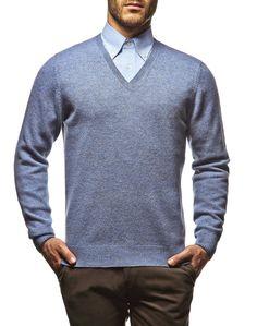 #Pullover in #filato #bicolore in pura #lana d'agnellino #lanavergine #ai2014