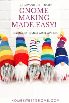 These adorable gnomes are so easy to make with our DIY gnome patterns and tutorials. Grab your gnome pattern on our website! Easy Christmas Crafts, Christmas Gnome, Handmade Christmas, Gnome Tutorial, Cute Crafts, Sewing Projects, Sewing Patterns, Website, Gnome Craft