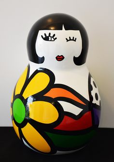 Virginia Benedicto - Marinette - Acrylique sur résine, vernis - hauteur 45cm - 2014 #virginiabenedicto #sculpture #artcontemporain #galerieduret
