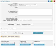 Kundendaten über CSV-Dateien importieren