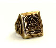 All seeing Eye Masonic Ring