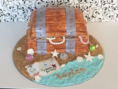 My treasure chest cake (remake of my original) find me on Facebook! Www.Facebook.Com/sugarpearlbakery
