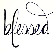 Blessed. This would be a great #tattoo design #tattoo patterns