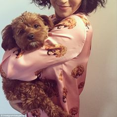 Sleepy time: Katy Perry posted this snap on Instagram on Tuesday showing her wearing pyjam...