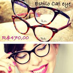 Armação no estilo cat eye deixam o look mais feminino.  oculos  grau   e513e55baf
