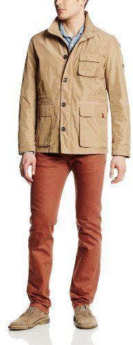 $202, Khaki Field Jacket: Ben Sherman Memory Nylon Field Jacket. Sold by Amazon.com. Click for more info: http://lookastic.com/men/shop_items/82685/redirect