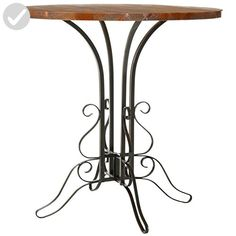 Safavieh American Home Collection Calais Oak Finished Black Iron Side Table - Improve your home (*Amazon Partner-Link)
