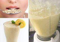 Vitamina de aveia, limao e maça para emagrecer