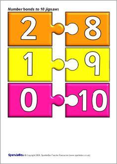 Number bonds to 10 jigsaw pieces (SB2272) - SparkleBox