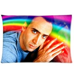 Nicolas Cage Rainbow Pillowcases 20x30 Inch