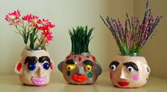 Easter Craft: Make Your own Flower Pots & Vases 2019 Flower pots and vases The post Easter Craft: Make Your own Flower Pots & Vases 2019 appeared first on Clay ideas. Clay Crafts For Kids, Kids Clay, Easter Crafts, Diy For Kids, Crafts To Make, Arts And Crafts, Diy Crafts, Clay Projects For Kids, Flower Pot Crafts