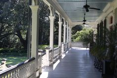 Porch of home on Jefferson island