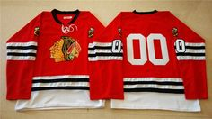 """$34.88 at """"MaryJersey""""(maryjerseyelway@gmail.com) Mitchell And Ness 1960-61 Blackhawks 00 Clark Griswold Red Stitched NHL Jersey"""