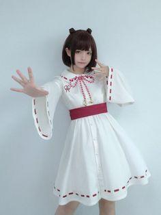 画像16: 【To Alice】C3611リボン付き巫女風ワンピース (16)