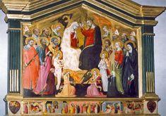 Bicci di Lorenzo - Incoronazione della Vergine e dodici santi - 1430 - Cappella Davanzati, Chiesa di Santa Trinità, Firenze