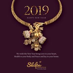 This is your year to sparkle with stunning diamond jewellery. Get inspired and begin. Wish you a happy, healthy and peaceful New Year! #NewYears2019 #Happy2019 #NewYearResolutions2019 #WeddingJewellery #BridalJewellery #ShilpaLifestyle