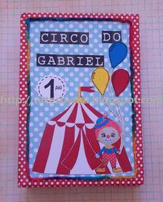 artes by Má: Album de fotos personalizado - festa Tema Circo