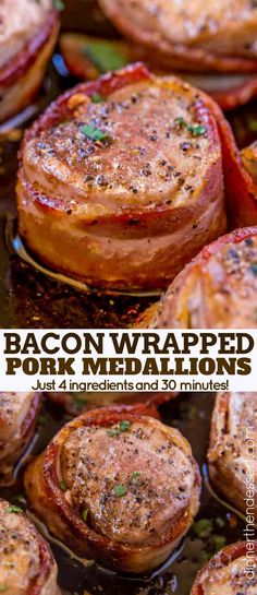 Bacon Wrapped Pork Medallions are an impressive dinner option for your regular weeknight rotation that's impressive enough to serve at your fanciest party.