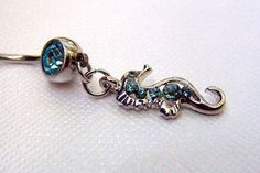 seahorse belly button ring