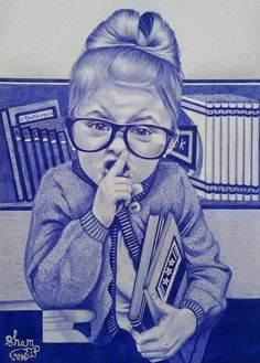 Pen drawings : Enam Bosokah says, I want the public to know that I am just a young artist who is craving to do more. Biro Art, Ballpoint Pen Drawing, Sketch Pen Drawing, Ink Pen Drawings, Ballpen Drawing, Pencil Shading Techniques, Cute Girl Drawing, African Artists, Raiders Tattoos