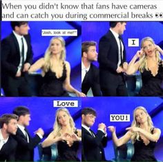 Jennifer Lawrence and Josh Hutcherson are so cute Hunger Games Memes, Hunger Games Cast, Hunger Games Fandom, Hunger Games Trilogy, Jennifer Lawrence Funny, Jenifer Lawrence, Josh And Jennifer, Tribute Von Panem, Josh Hutcherson