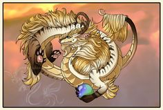 Desert Lung Dragon by jeweledphoenix
