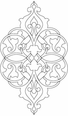 Wood Carving Patterns, Stencil Patterns, Doodle Patterns, Stencil Art, Stencil Designs, Islamic Motifs, Islamic Art Pattern, Persian Pattern, Persian Motifs