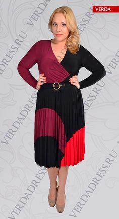 af6d9d9c6228043 Стильные платья больших размеров от турецкого бренда Verda. Осень-зима 2012- 2013