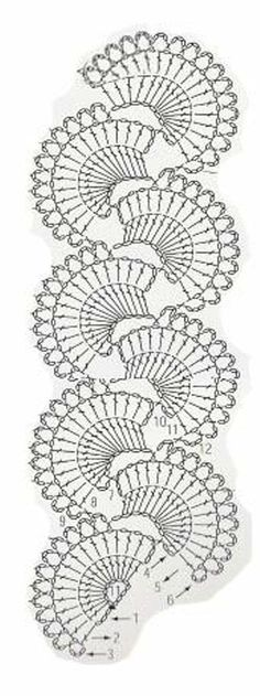 Ideas Crochet Lace Tape Pattern Posts For 2019 Crochet Flower Scarf, Crochet Lace Edging, Crochet Poncho, Crochet Chart, Crochet Doilies, Crochet Flowers, Crochet Edgings, Irish Crochet, Crochet Filet