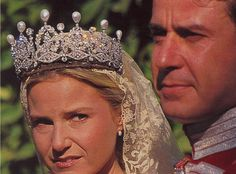 Cayetana's only daughter, Eugenia, wore the Alba Pearl tiara when she wed.